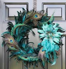 Peacock Decor For Bedroom Peacock Feather Wreath Summer Wreath Home Decor By Oursentiments