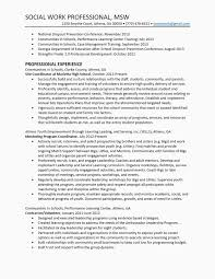 Social Work Resume Sample Inspiration School Social Worker Resume Sample Lovely School Social Worker