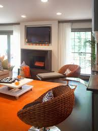 Orange And Brown Living Room Rooms Viewer Hgtv