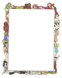 fancy frame border transparent. ElfQuest Cast Border By Passingfancyrae Fancy Frame Transparent