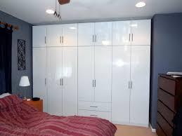 glossy white wardrobe set