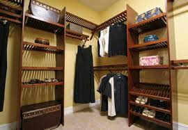 wood closet shelving