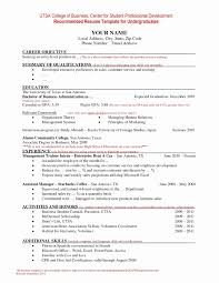 Resume Format For Undergraduate Awesome Resume Format Jedegal