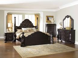 glamorous king size bedroom sets with complex traditional sculptured furniture and convenient rug in bright bedroom