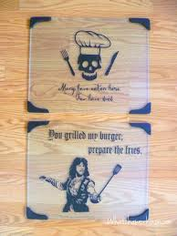 two free cutting vinyl designs cut on the silhouette and applied to glass cutting boards two free cutting
