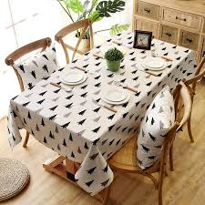 10 size fashion printing waterproof cotton canvas rectangle home tablecloth table covers table runners table covers for weddings large round tablecloths