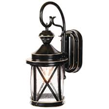 heath zenith 1 light satin black motion activated outdoor wall mount lantern