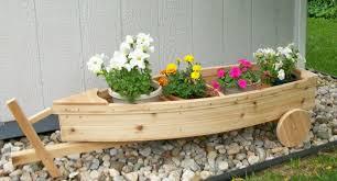 wooden garden planter boxes nautical all cedar boat and trailer outdoor landscape garden box