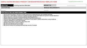 Vending Machine Attendant Beauteous Vending Machine Attendant Job Description Careers Job Descriptions