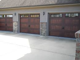 Garage Door overhead garage doors photos : CHI brand, model 5983, woodtone accent Mahogany | CHI Overhead ...