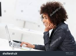 Computerized Hair Style side view young african american businesswoman stock photo 7696 by wearticles.com