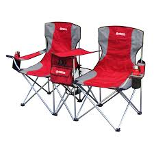 gigatent red steel folding side by side double camping chair