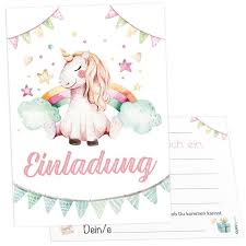 Children Birthday Invitations 12 Invitation Cards Unicorn Girl Children Birthday Party Birthday Invitations To Fill Out Girls Incl Envelopes