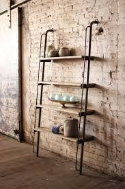 set of  wood and metal wall shelves