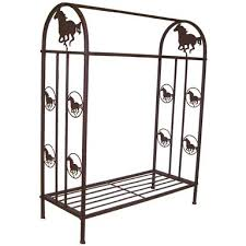DeLeon Collections Metal Quilt Rack with Horse Design - 176872 ... & DeLeon Collections Metal Quilt Rack with Horse Design Adamdwight.com