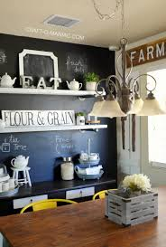Small Chalkboard For Kitchen Farm Kitchen Chalkboard Painted Wall Craft O Maniac