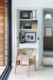 Concealed Desk & Cupboard Workspace With Shelves | Small workspace, Kitchen  cupboards and Pocket doors