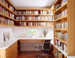 bookshelves for office. Home Office Bookshelves Space Wooden Built In . For