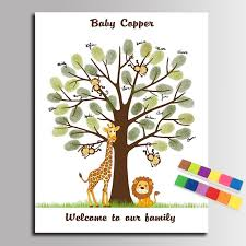 Fingerprint Trees U0026 Finger Print Guest Books  Alternative Guest Fingerprint Baby Shower Tree