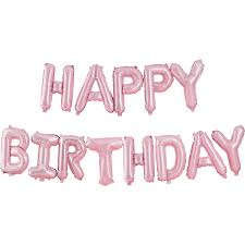 Ginger Ray Pink Happy Birthday Balloon Bunting 2 5m