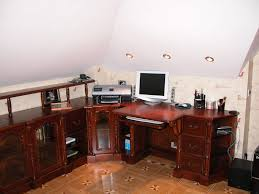sensational wooden computer furniture design ideas with traditional classic style used beige marble flooring and white amazing computer furniture design wooden computer