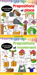 prepositions of place clip art