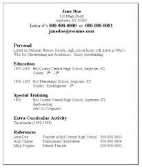 High School Resume For College Awesome 1717 College Resume Samples For High School Senior Sample Resume For High