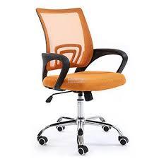 mid back mesh office chair orange