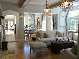 Chandeliers give a room a breathtaking look. French country interior design  ...