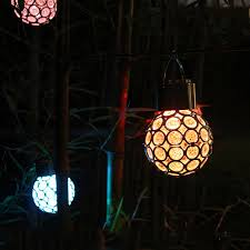 Hanging Ball Lights Solar Crystal Fairy Hanging Ball Lights Color Changing Led