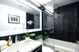 subway tile glossy black beveled for kitchen matte backsplash