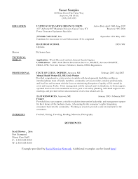 Job Resume Sample Social Worker Resume Example Entry Level Social