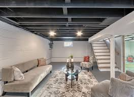 Nice Unfinished Basement Ceiling Ideas  Good Unfinished Basement - Exposed basement ceiling