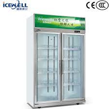 china factory transpa upright glass door refrigerator