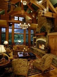 living room log cabin kitchens design pictures remodel decor