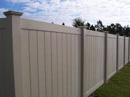 Image Chain Link Tan Vinyl Privacy Fence Posts Mossy Oak Fence Vinyl Fence