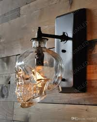 Skull Bedroom Nimi602 Loft Personality Industrial Iron Glass Retro Bar Outdoor