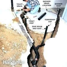 how to install basement bathroom plumbing how to plumb a basement bathroom moving plumbing in bathroom how to install basement bathroom