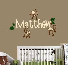 monkey decals for baby room awesome monkeys hanging with name vinyl wall decals nursery room decor