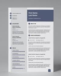 Modern Resume Pdf Slate Blue Modern Double Page Cv Resume