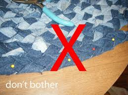 braided denim rag rug make braiding cut out