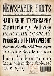 free newspaper fonts