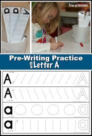 It's important for students to learn to. Preschool Prewriting Practice With Letter A Where Imagination Grows