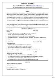 Resume For Cashier Sugarflesh