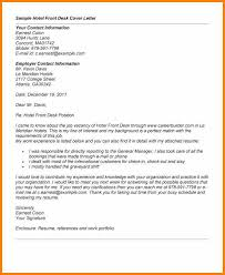 cover letter example for front desk position cover