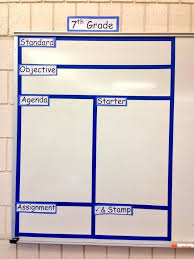 classroom whiteboard. divided whiteboard for organization. classroom c