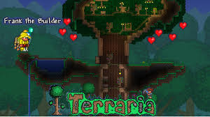 Lets Build Terraria Living Wood Treehouse Baumhaus Youtube