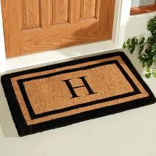 front door entry rugs inspirations monogram mat personalised entrance mats monogrammed doormat doors rug custom yellow and white polka dot pattern floor