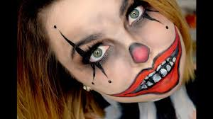 easy scary clown tutorial last minute makeup you