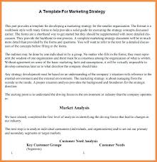 Marketing Strategy Planning Template Sample Document Example ...